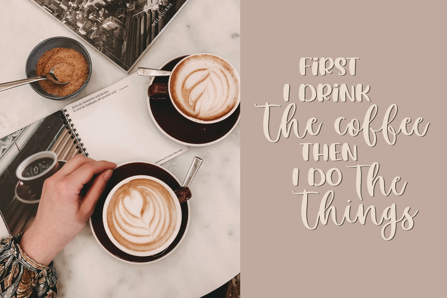 Soya Latte Font Duo example image 6