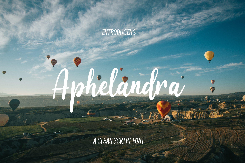 Aphelandra Font example image 1