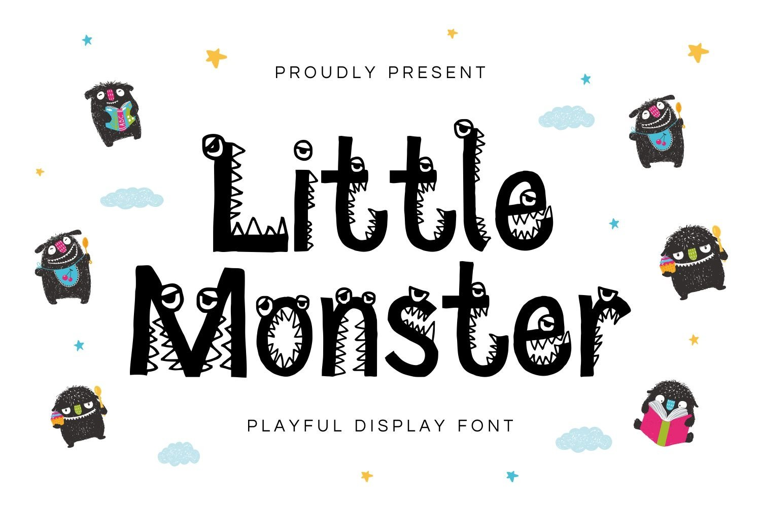Little Monster - Playful Display Font example image 1