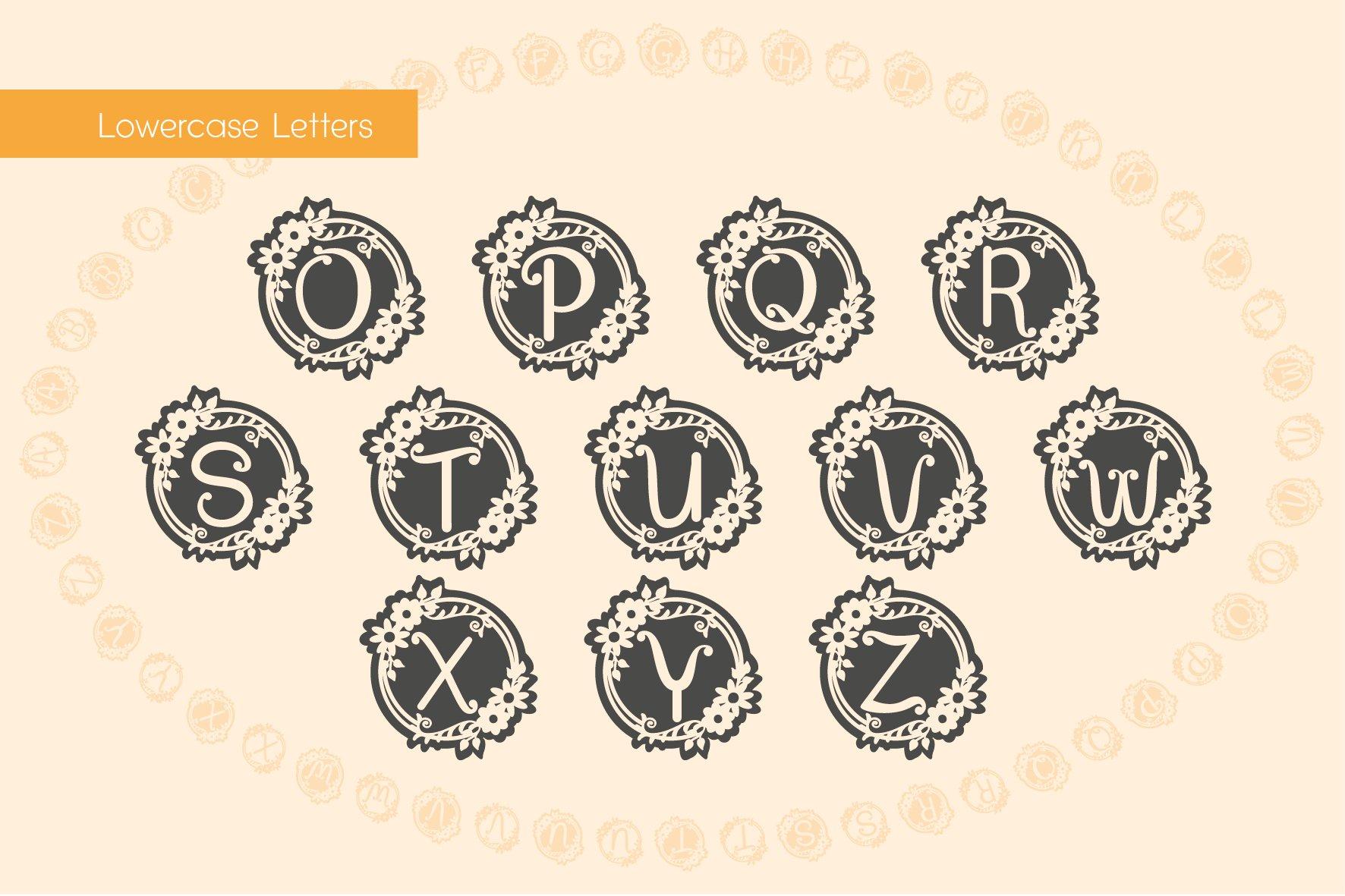 Garden Monograms - Font example image 5