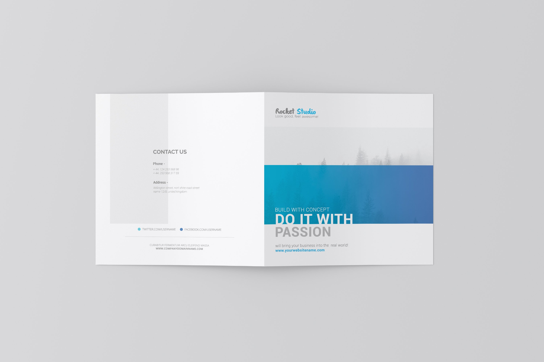 Square Bi-fold Brochure Mockup example image 7