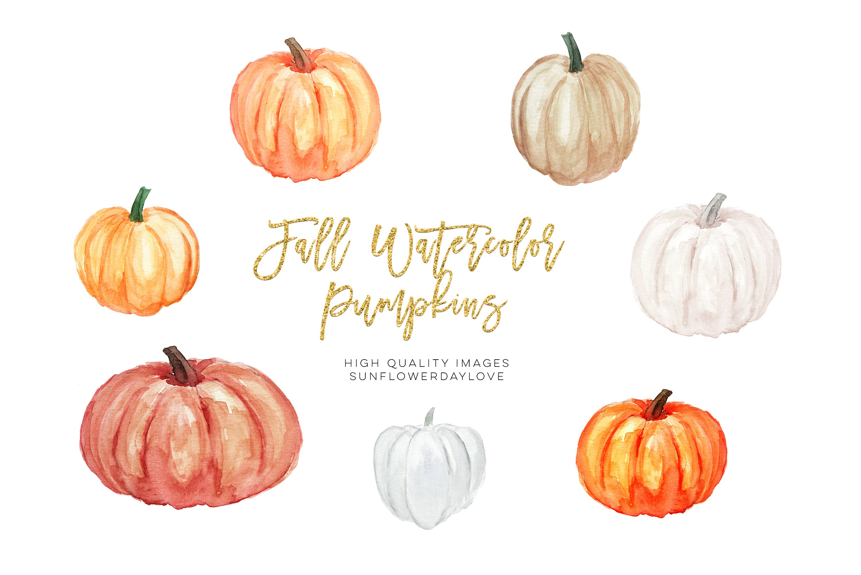 Thanksgiving pumpkin clipart, autumn, fall clipart example image 1