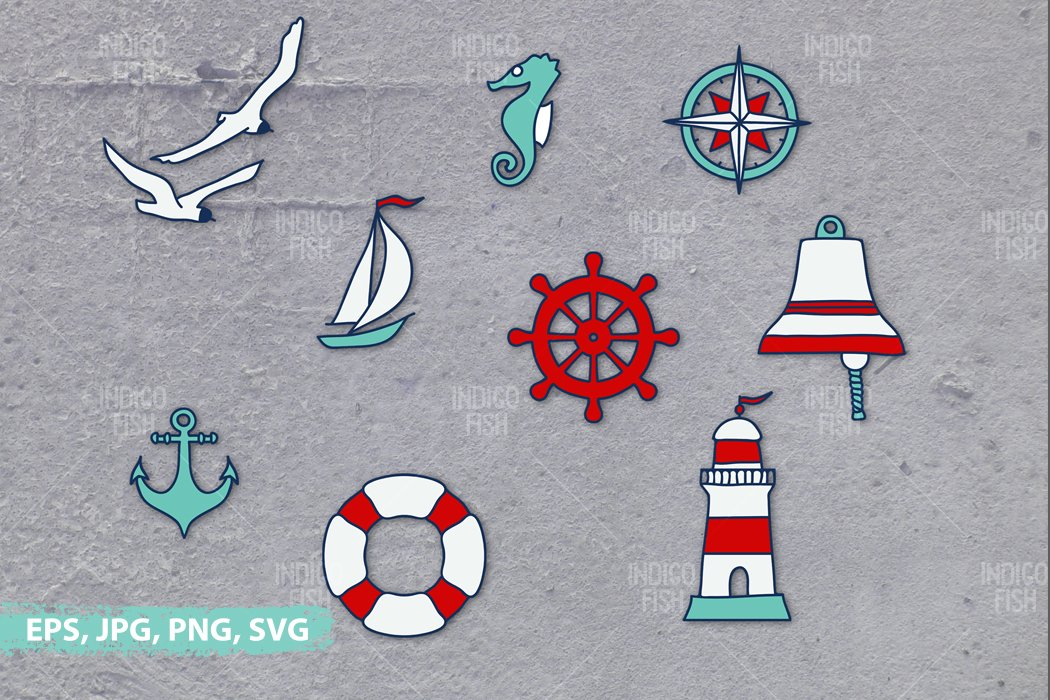 Icons, Quote and Pattern Expoloring & Sea Bundle example image 3