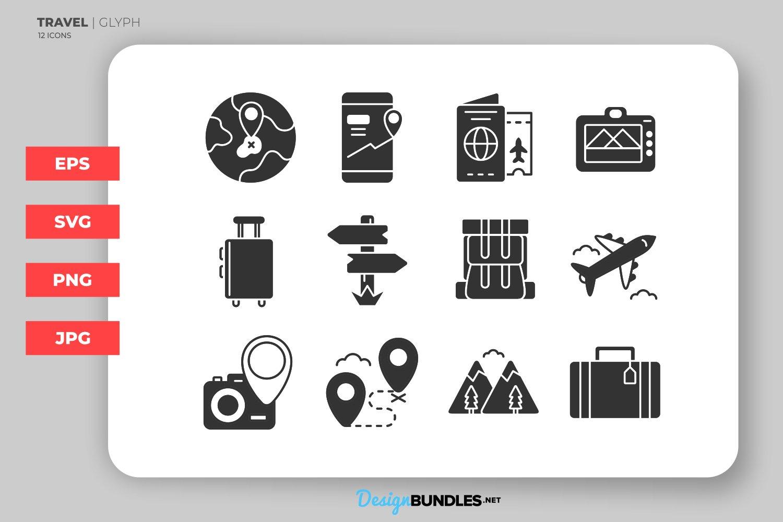 Travel Glyph Icons example image 1