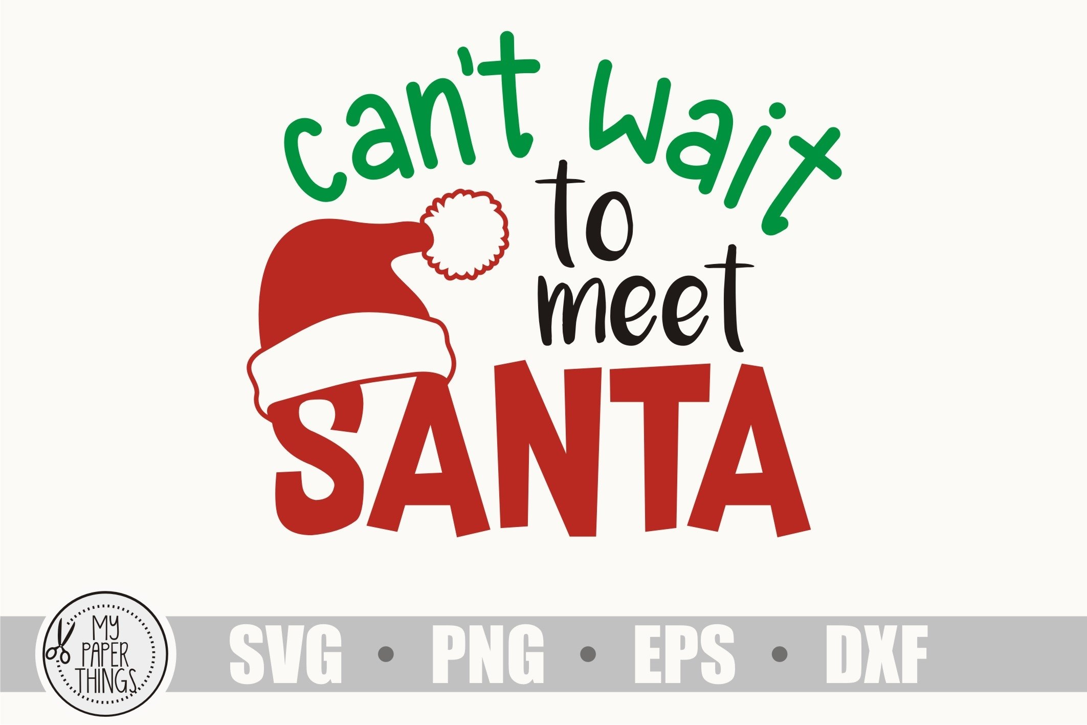 Baby Christmas svg, Can't wait to meet Santa svg example image 2