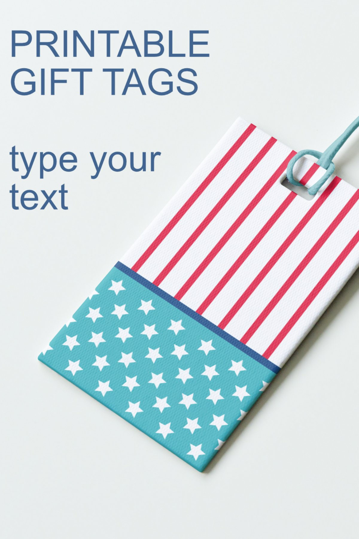 Patriotic Tags with Star Printable Editable PDF Tag Template example image 12