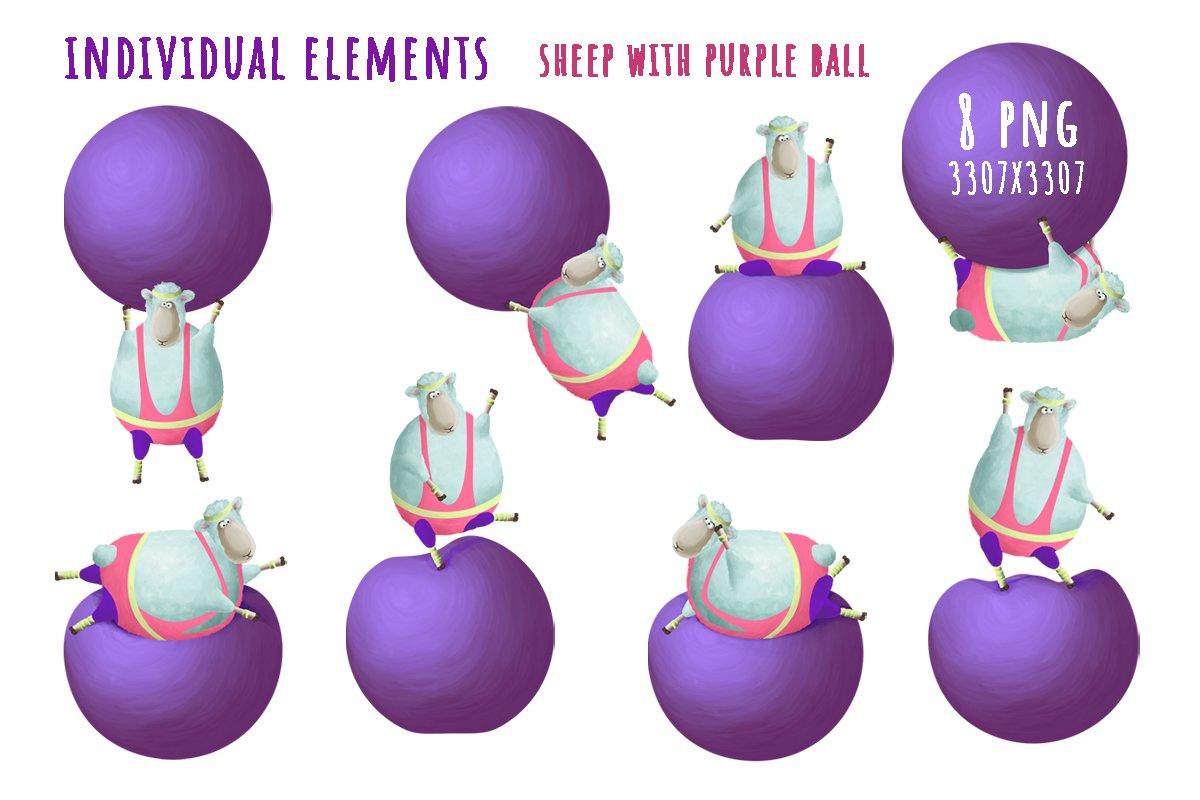 Sheep and aerobics 80s example image 3