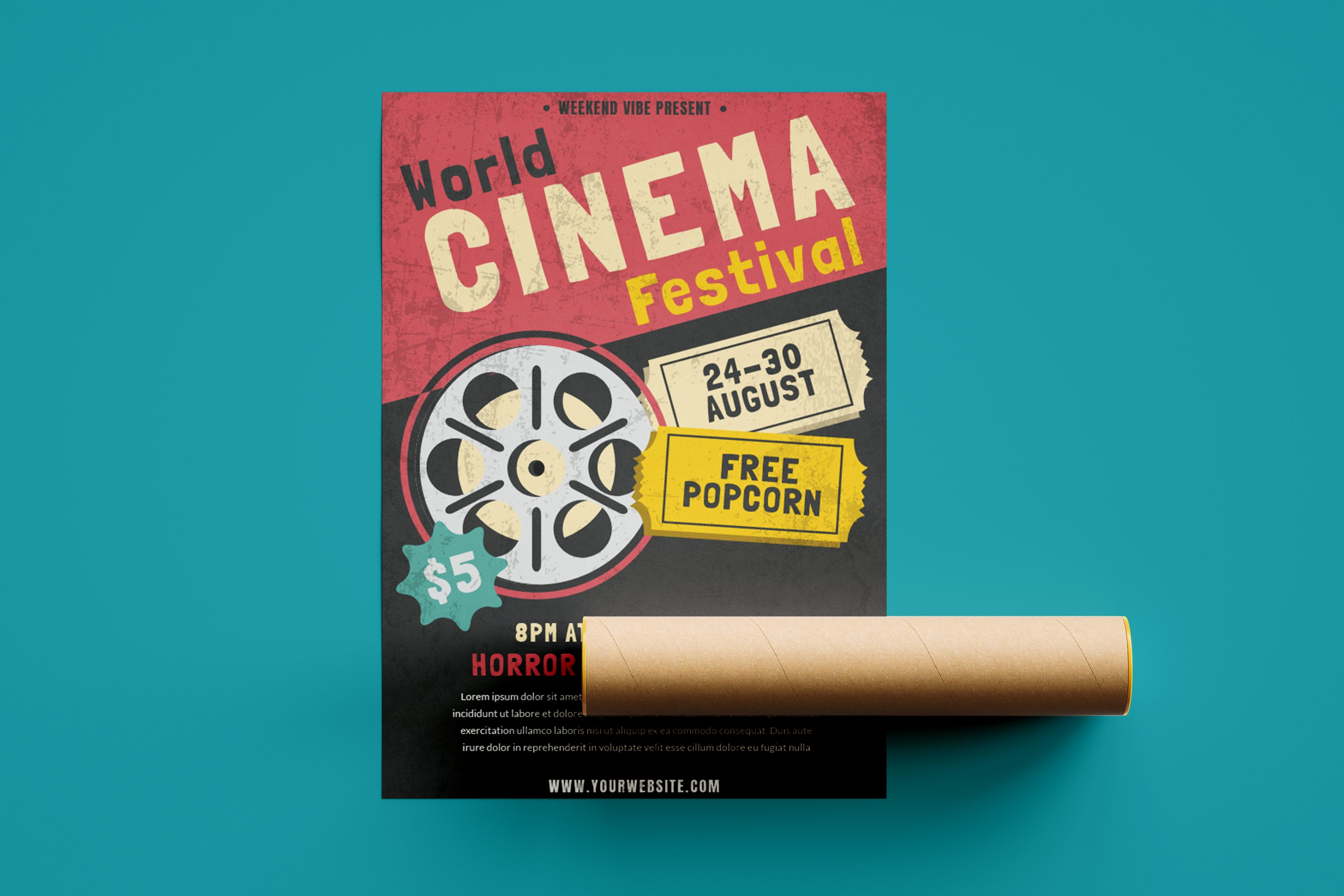 Cinema Festival - Flyer Poster example image 2