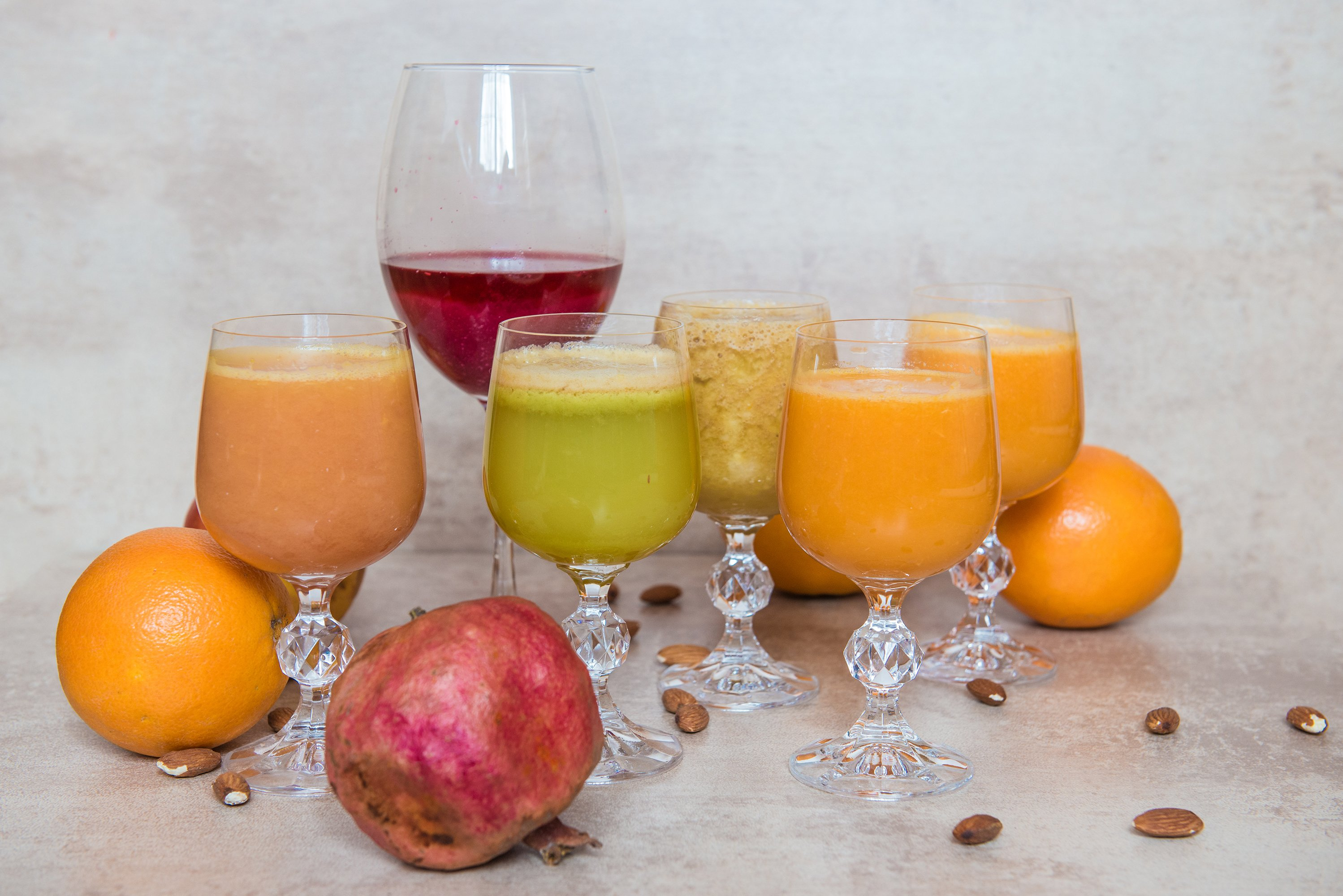 Fresh juice mix vegetables and fruit, healthy drinks example image 1