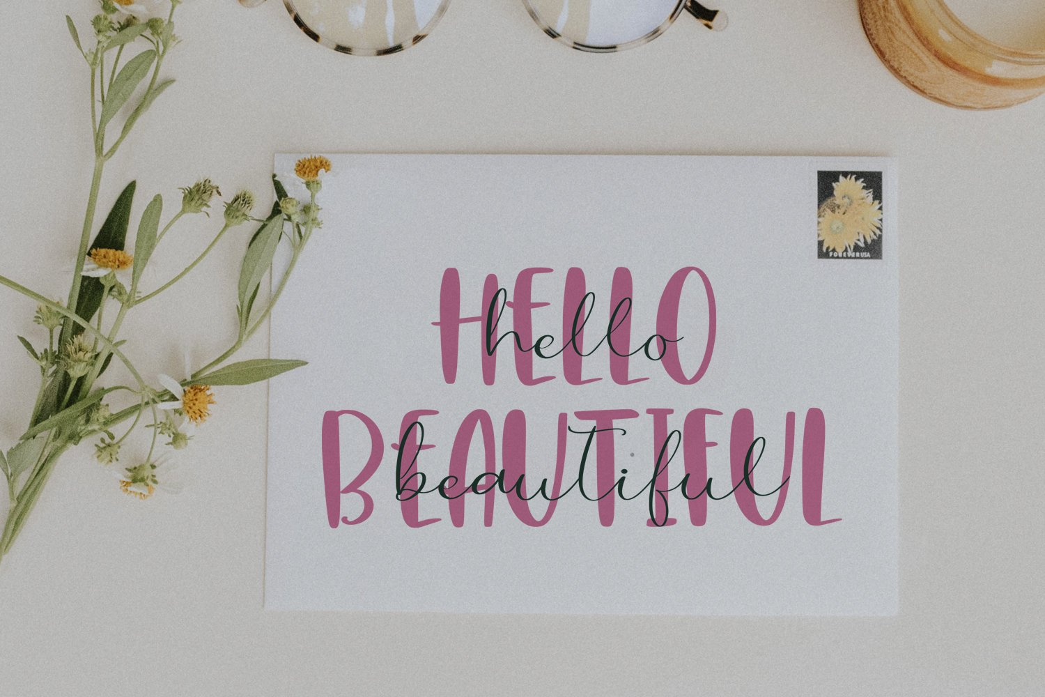 Hey Lovely. Font Duo example image 4