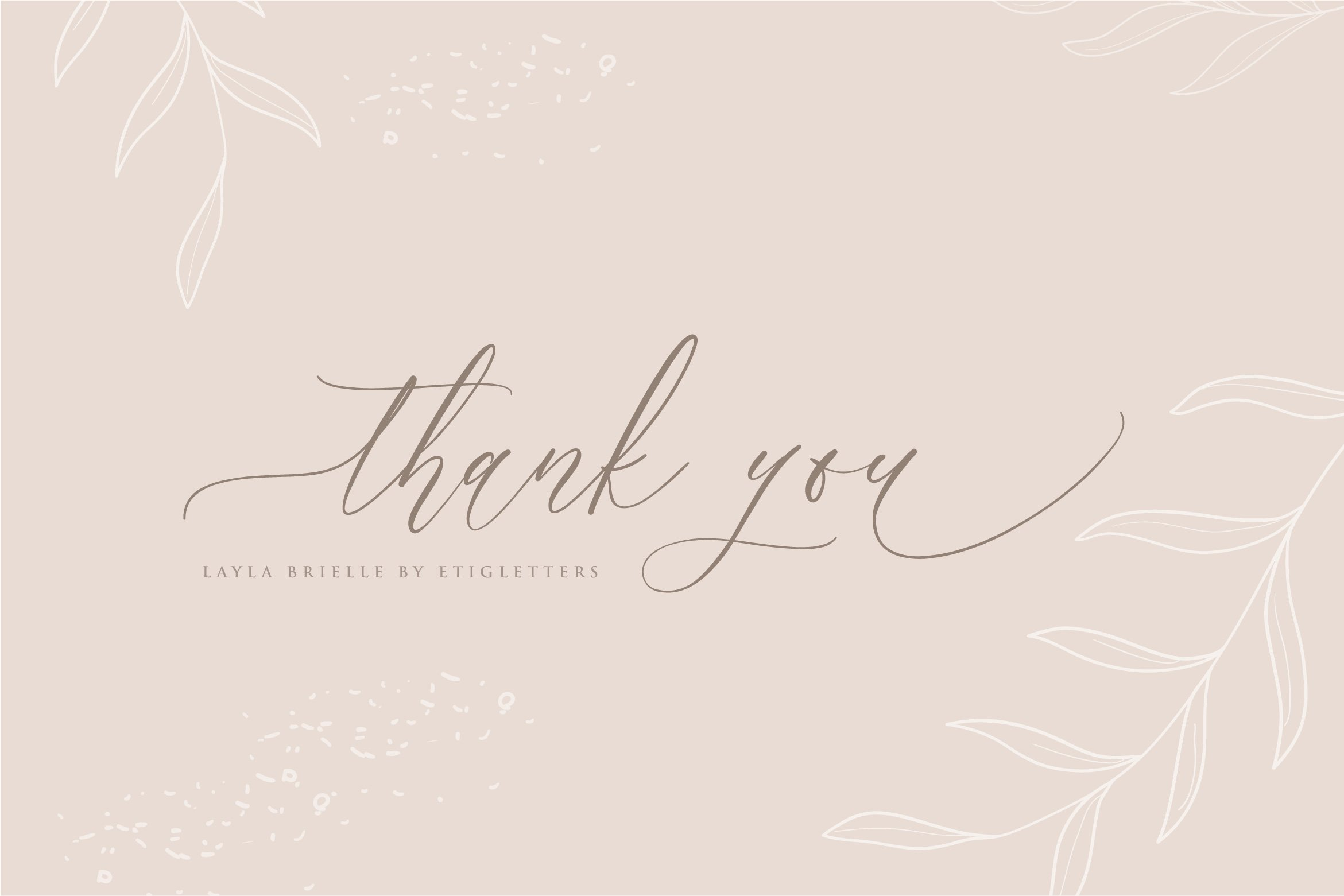 Layla Brielle Calligraphy Font example image 2