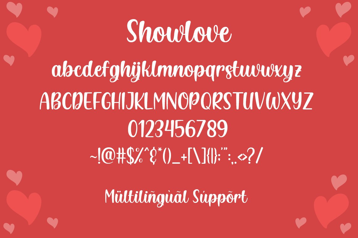 Showlove - a lovely font example image 4