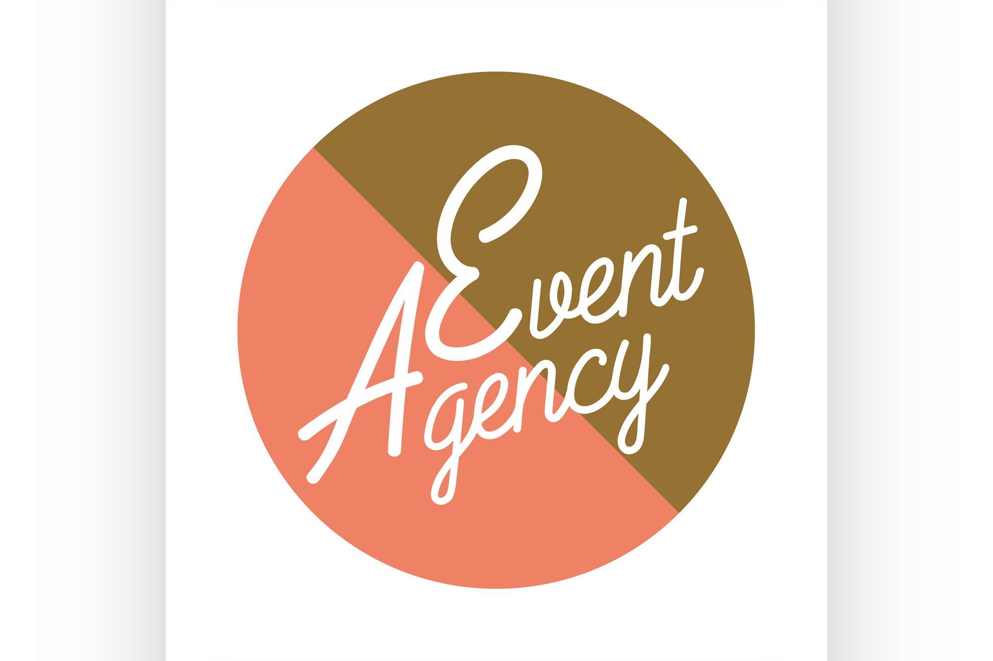 Color vintage event agency emblem example image 1