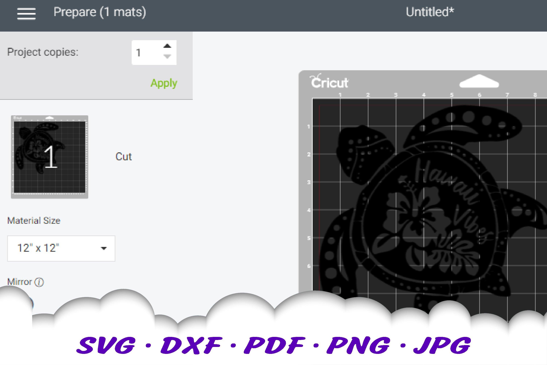 Hawaii Hibiscus Sea Turtle SVG DXF Cut Files Bundle example image 4
