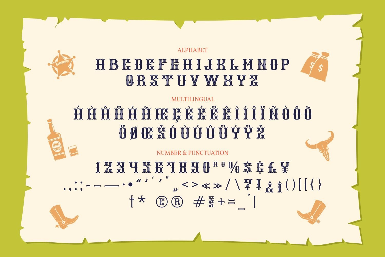 Black Inks - Western Display Typeface example image 5