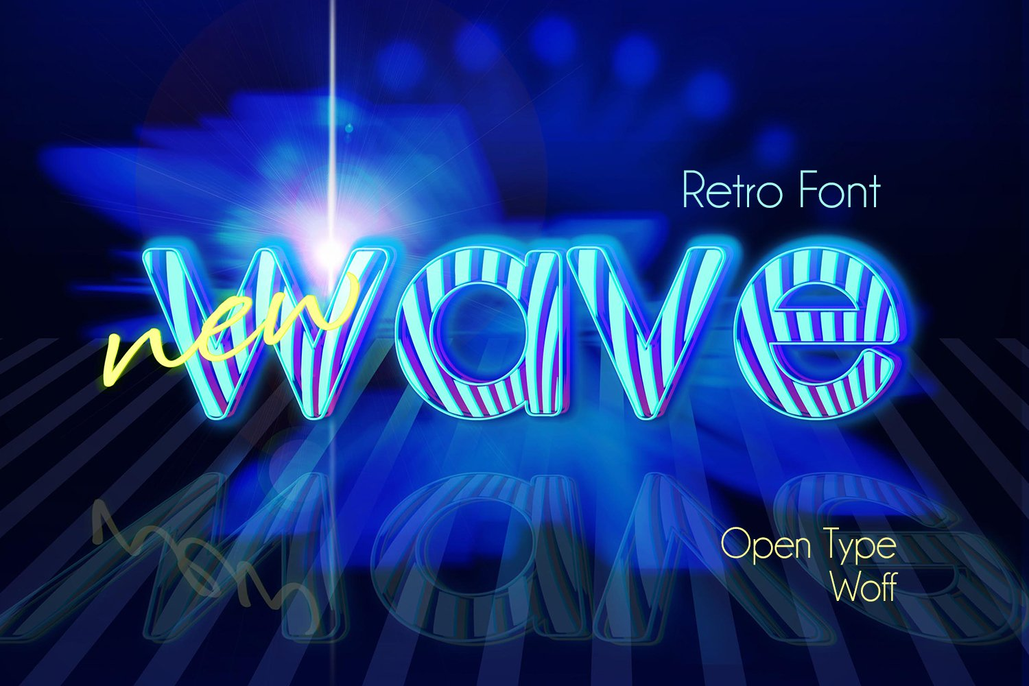 Retrostripe Font   Open Type & Woff Format example image 2