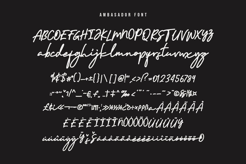 Ambasador Signature Font example image 10