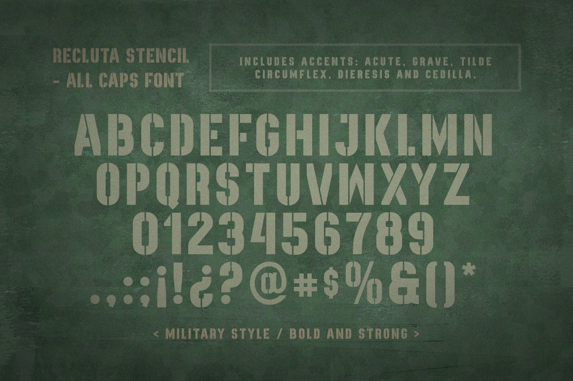 Recluta Stencil example image 2