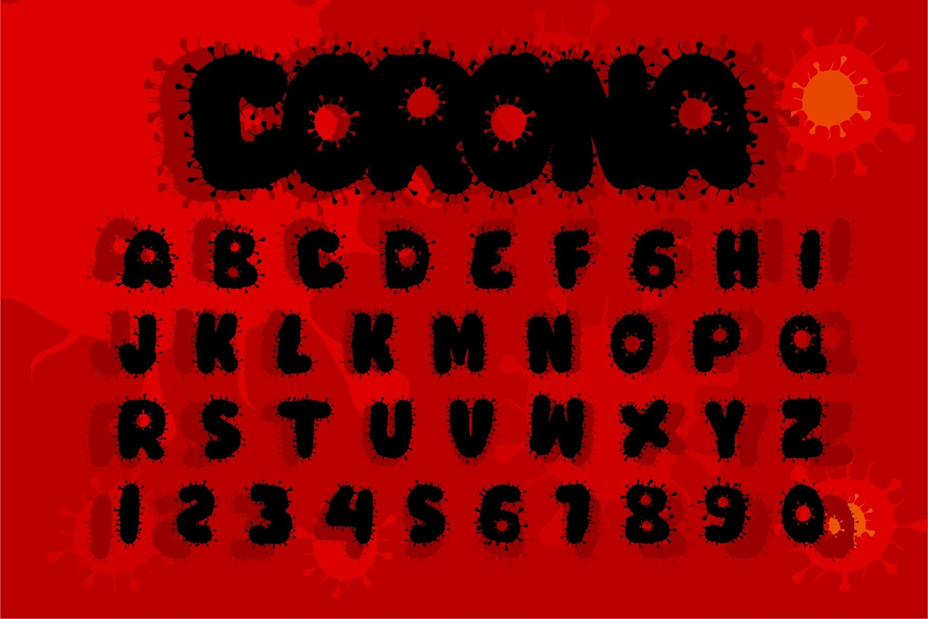 COVID-19 Display Font example image 2