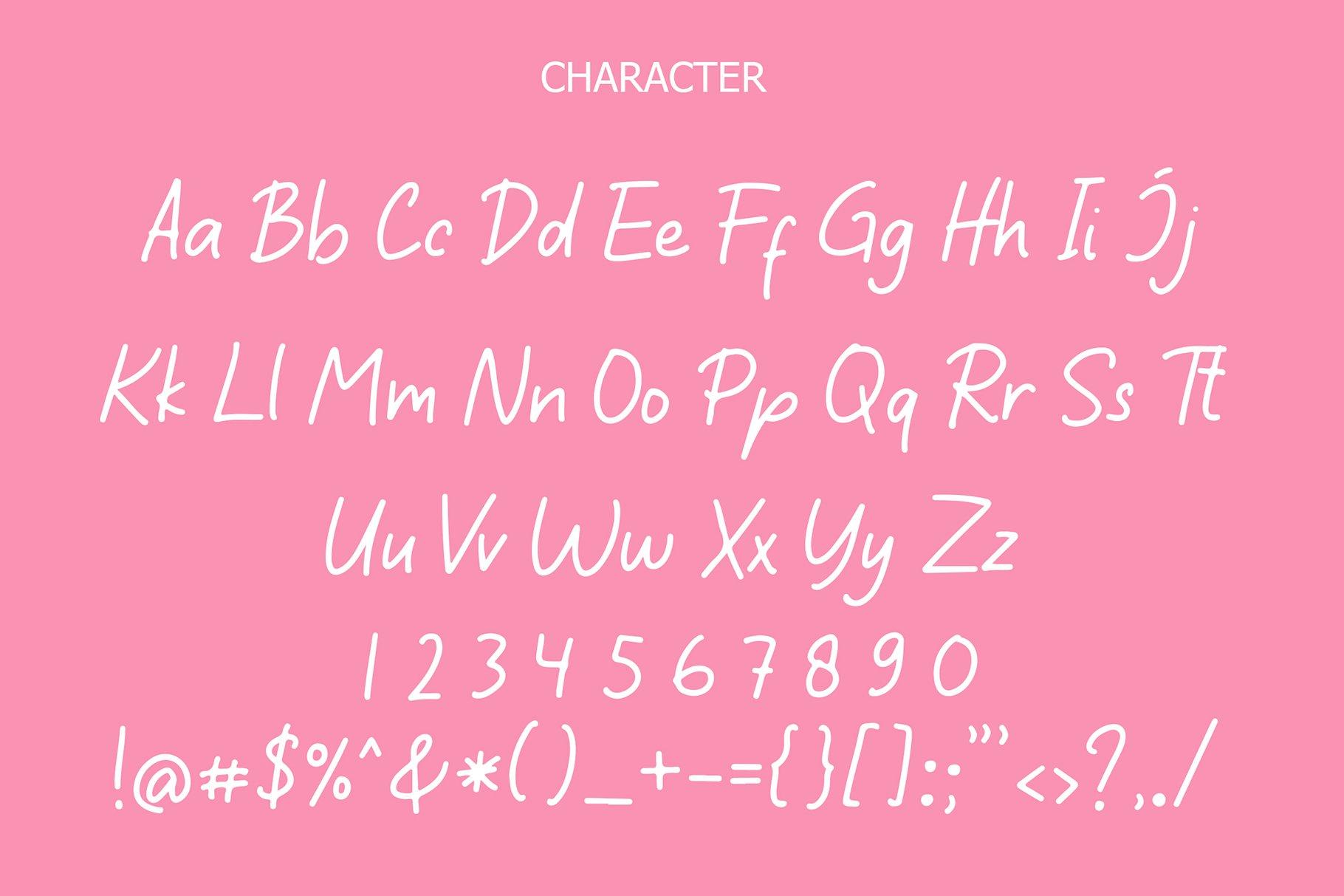 Sticky Book Modern Handwritten Font example image 6