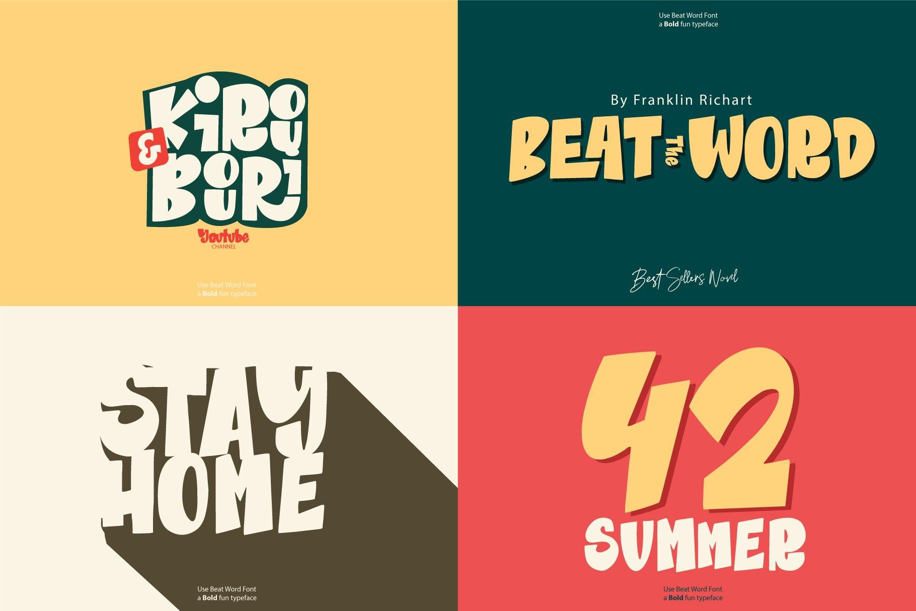 Beat Word | Bold fun Display example image 6