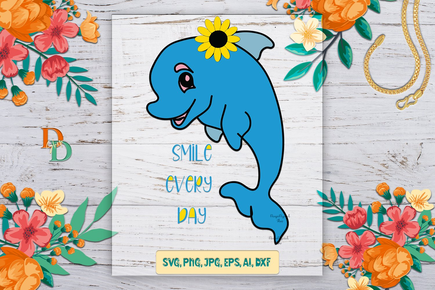 Dolphin SVG, dolphin images for t shirt, quotes printable example image 1