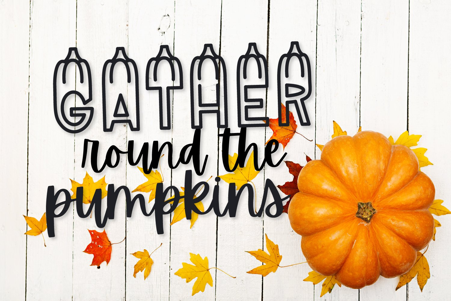 LUMPKINS - A Silly Word Art Halloween Font example image 4