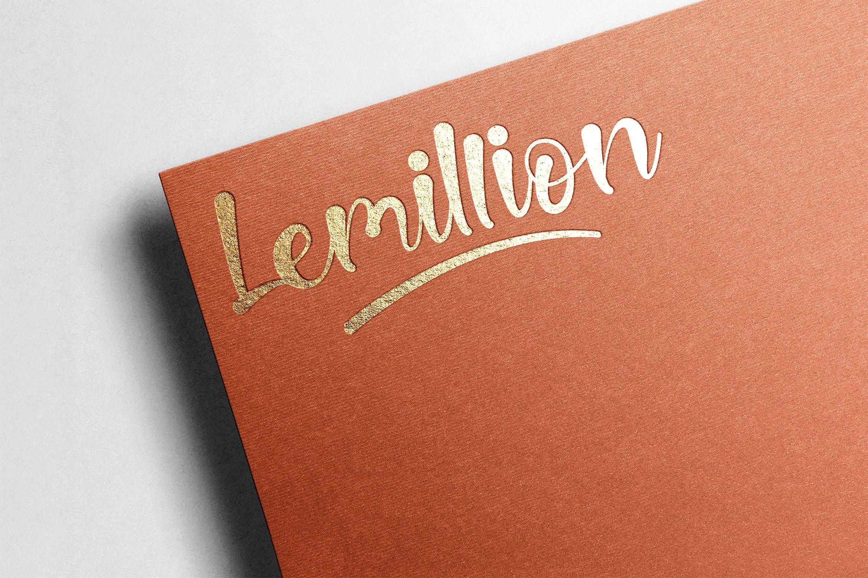 Lemillion Bold Script example image 7