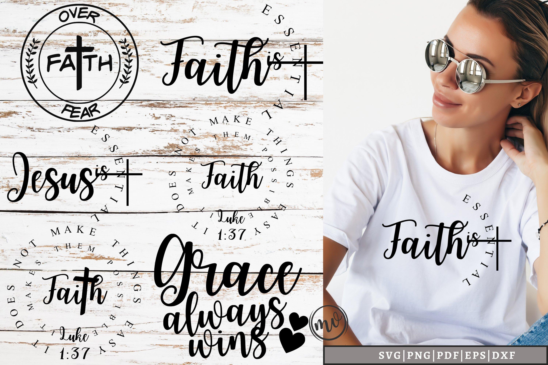 Jesus Quote SVG Mini Bundle - 6 example image 1