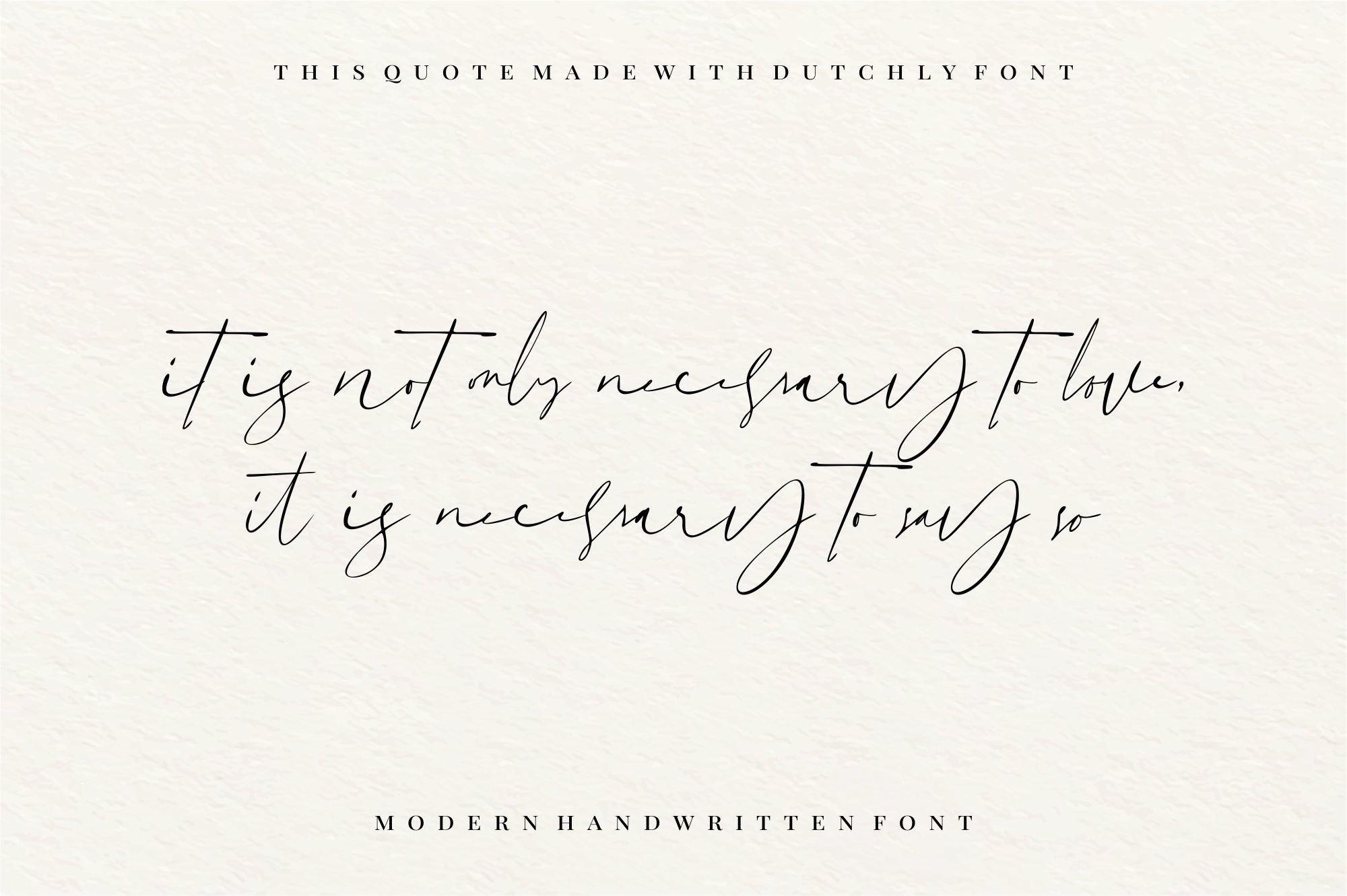 Dutchly - Modern Handwritten example image 3