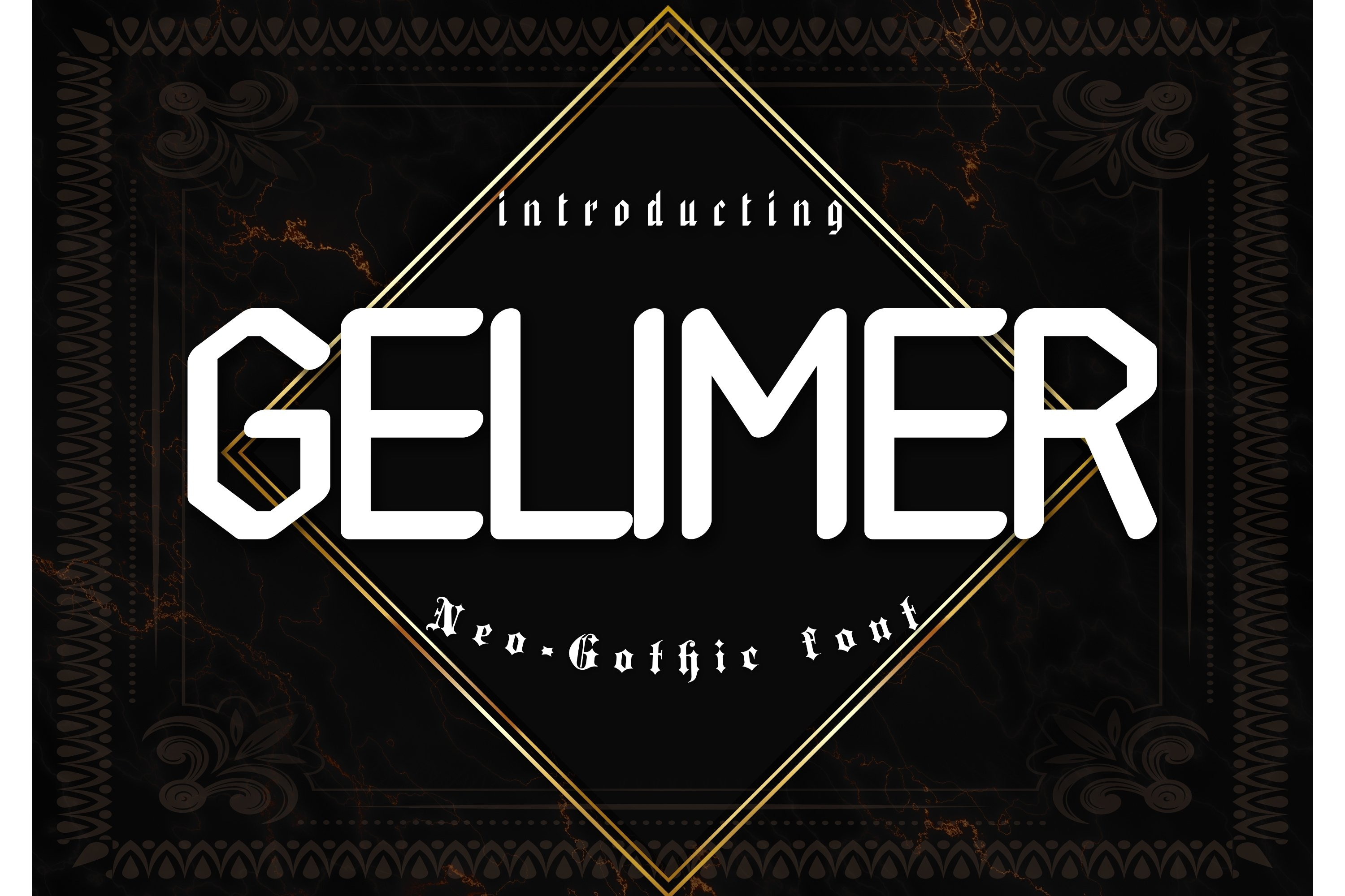 Gelimer Neo-Gothic Font example image 1