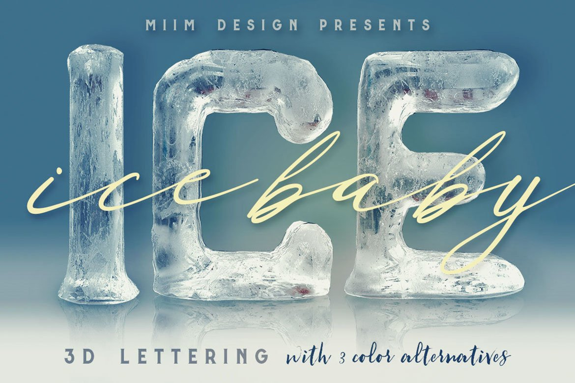 Ice Ice Baby - 3D Lettering example image 1