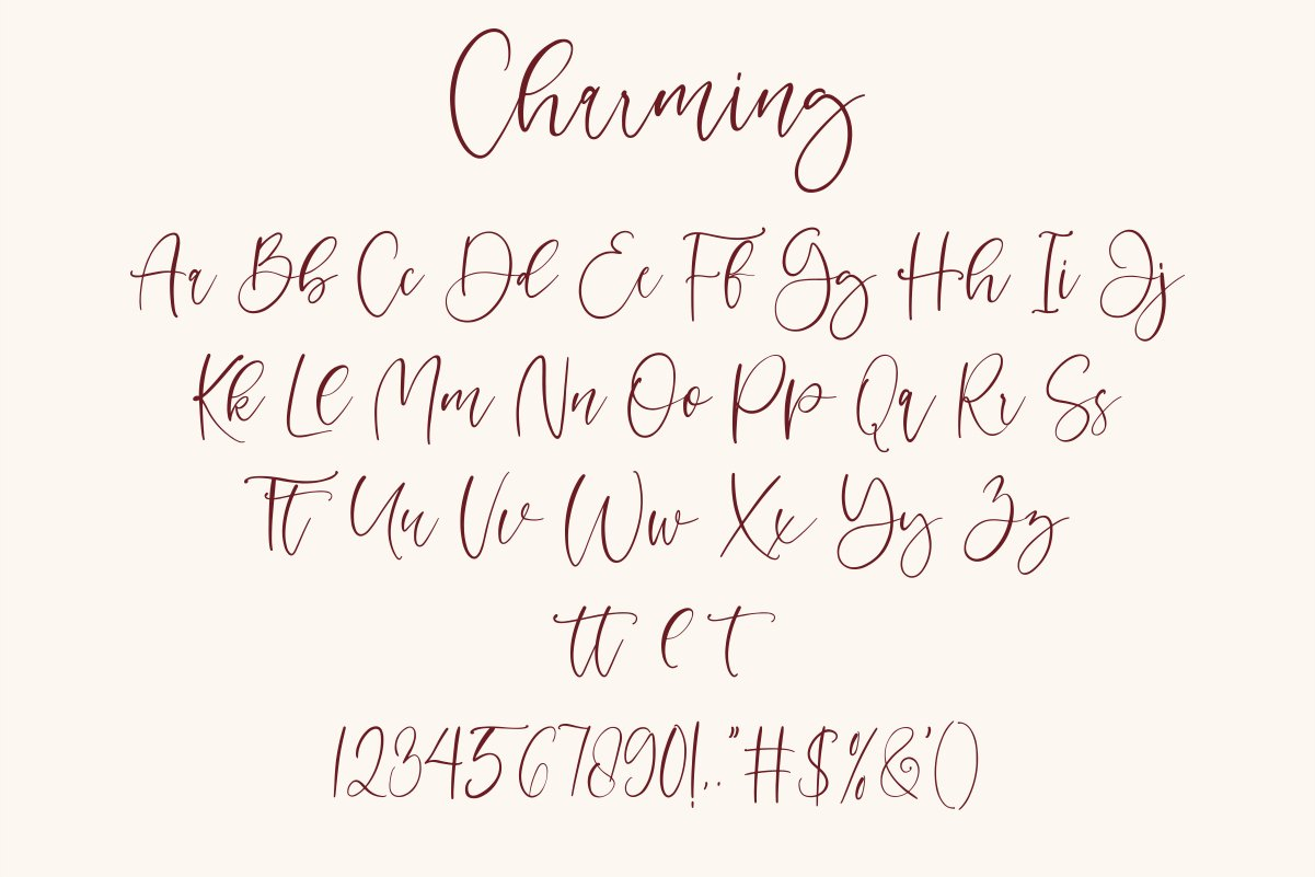 Charming - chic modern script font example image 9