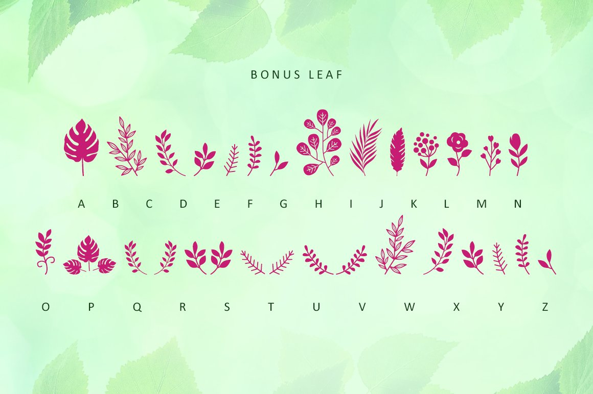 Leafing - Modern Script Font with 3 alternates example image 8