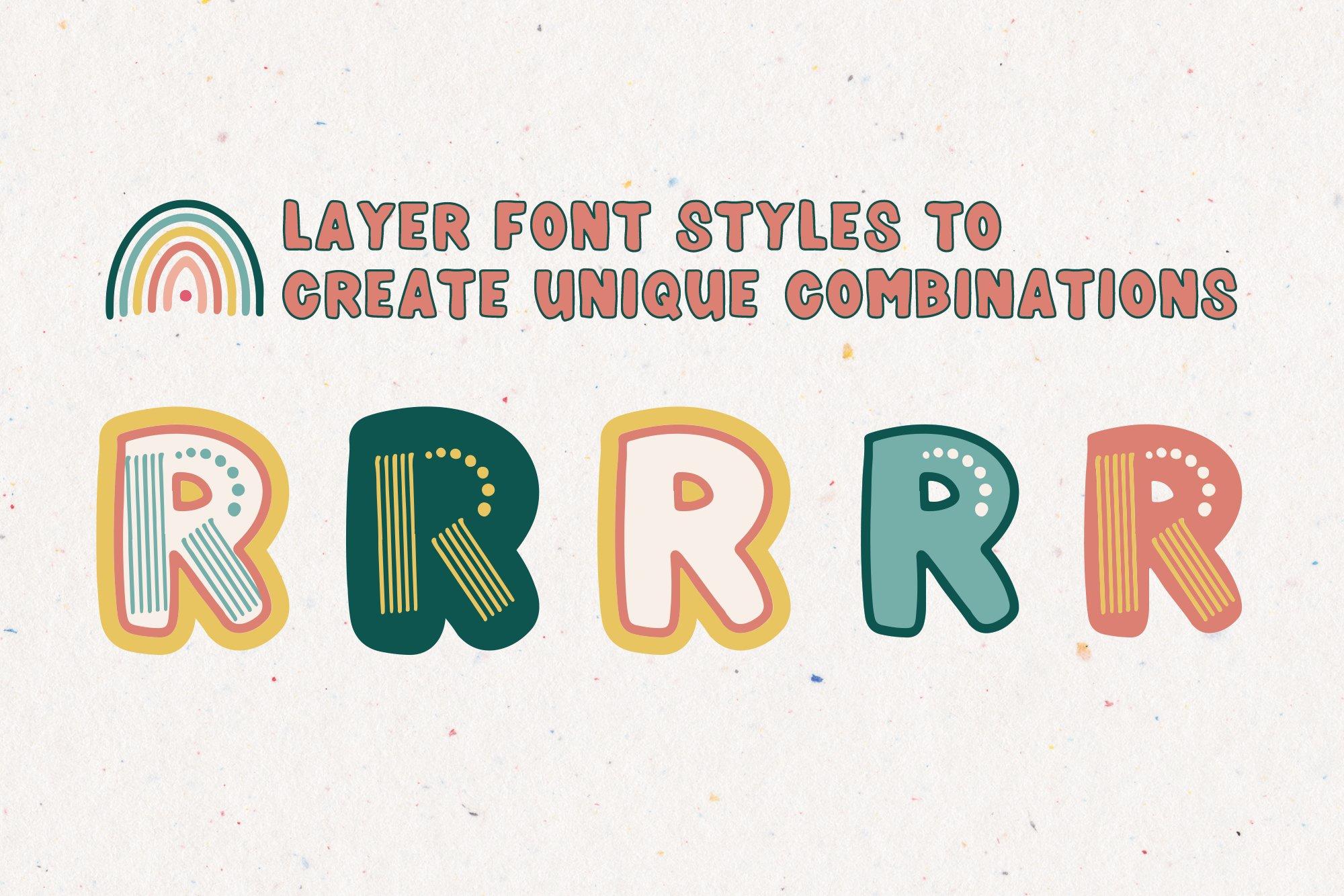 Rainboho   A Layered Abstract Font Family example image 5