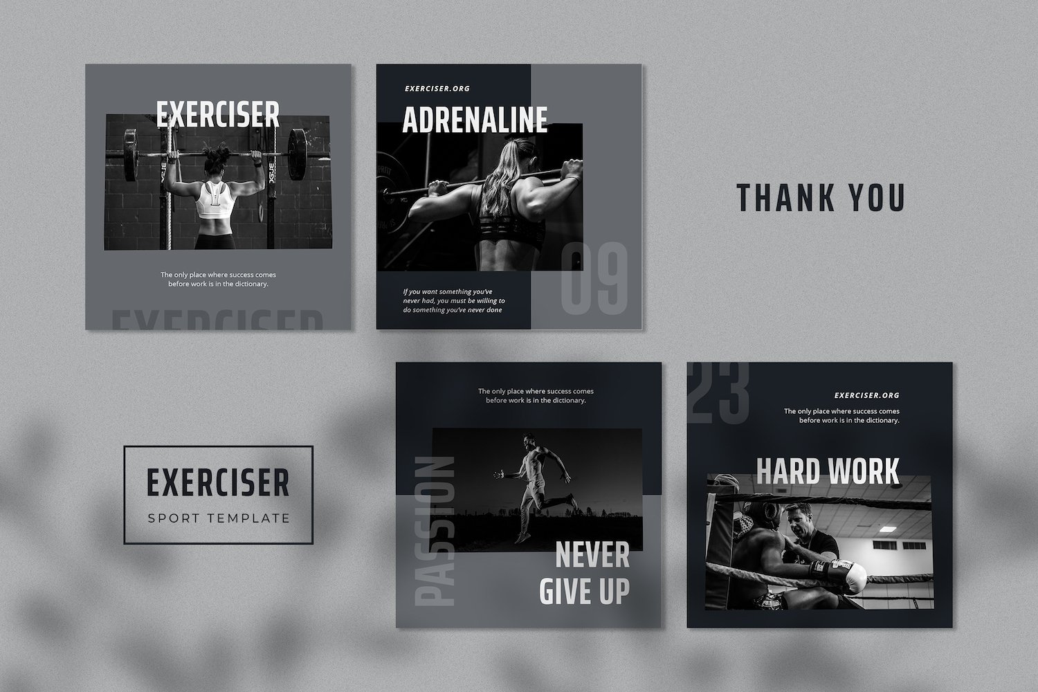 Exerciser - Gym & Fitness Instagram Post Template example image 4