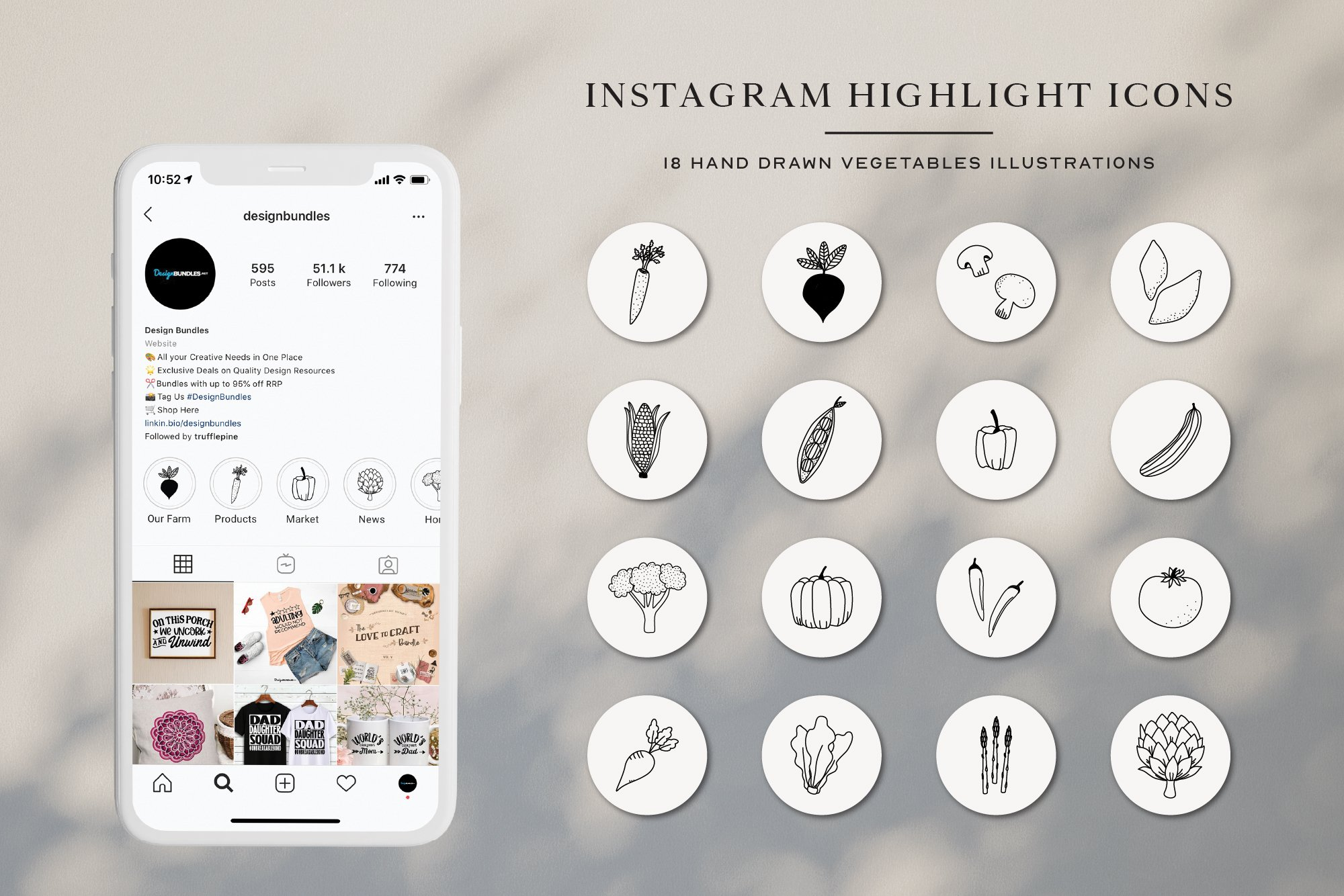 Instagram Vegetables Highlights Icons | Instagram Story Cove example image 1