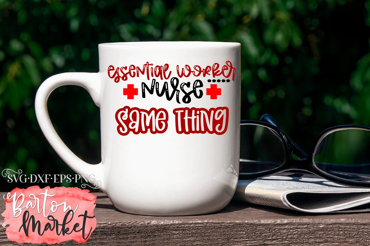 Essential Worker Nurse Same Thing SVG DXF EPS PNG example image 3