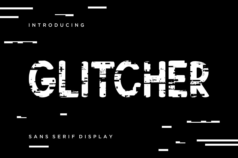 Glitcher Sans Serif Display example image 1