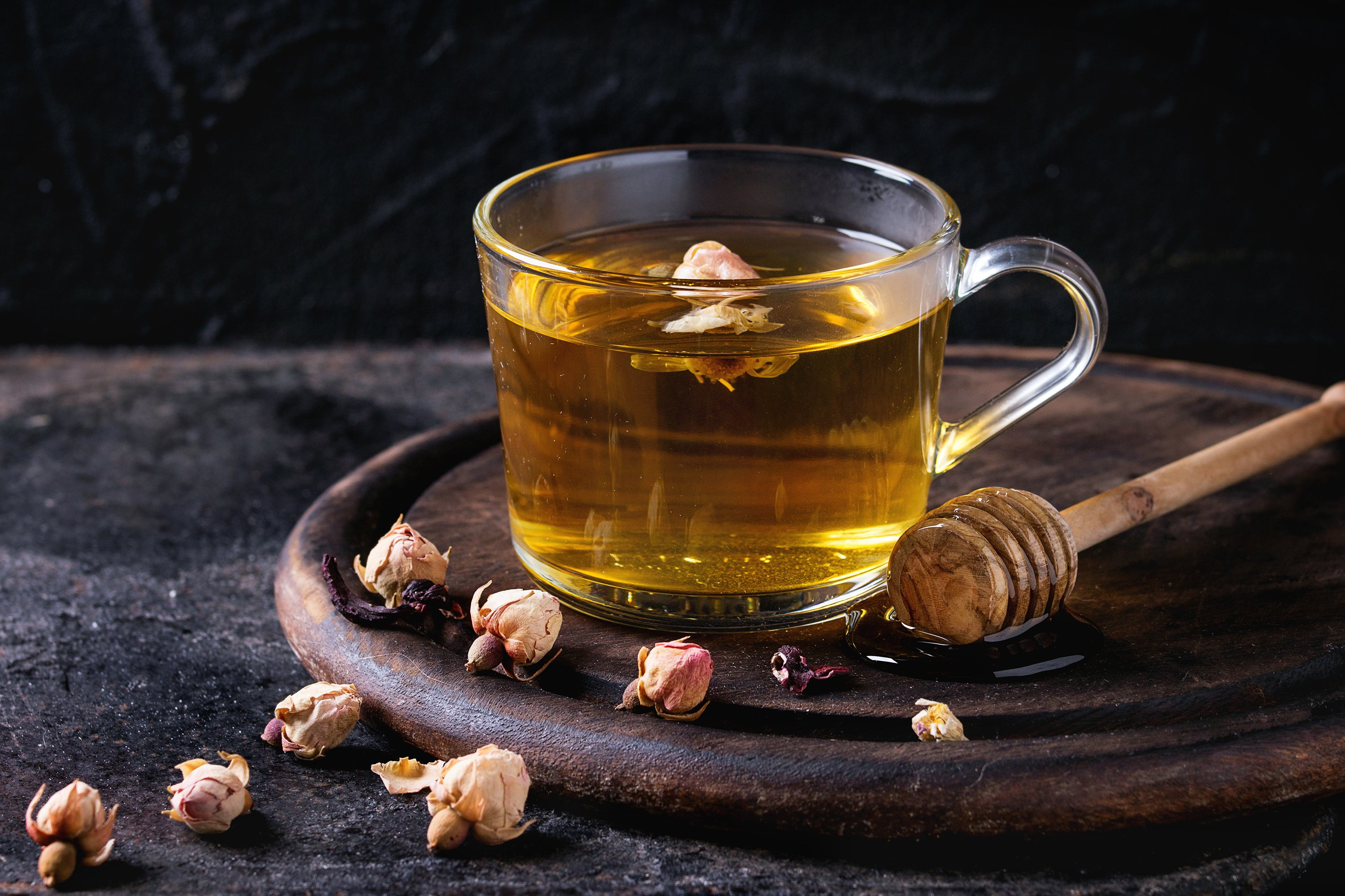 Herbal tea with honey example image 1