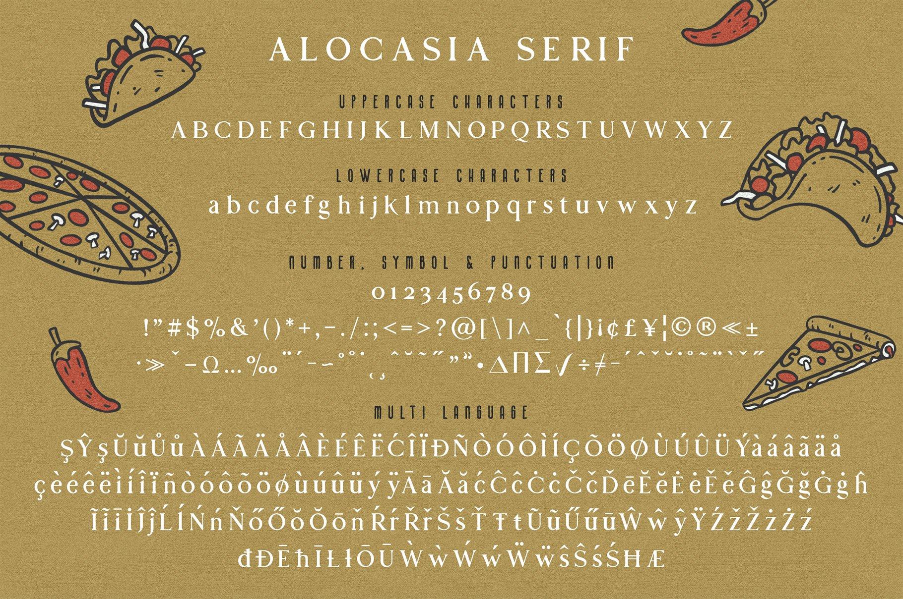 Alocasia-Trio Font Combination example image 13