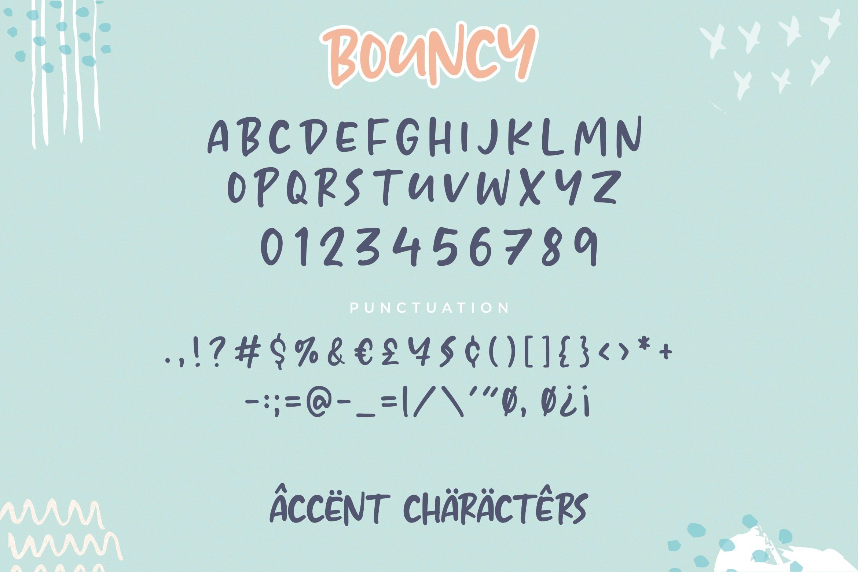 BOUNCY Lovely Cute Handwritten Font example image 6