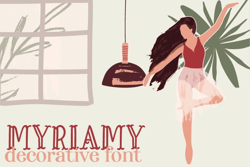 Myriamy Font example image 1