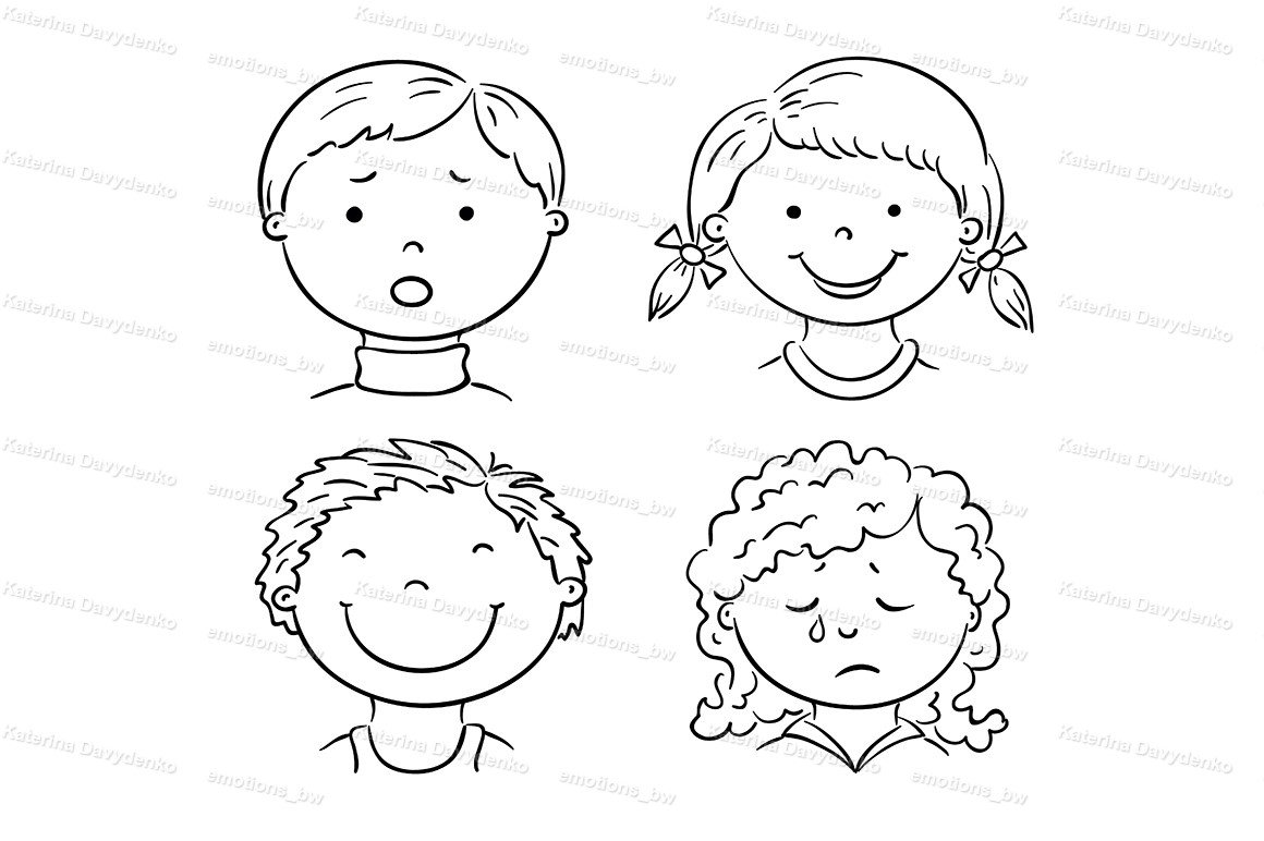 Kids faces with emotions example image 2
