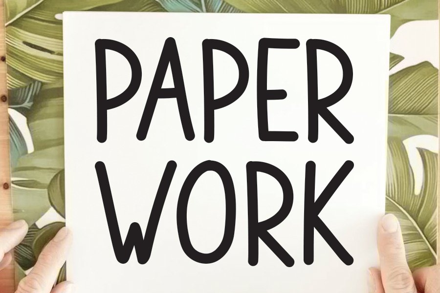PAPER WORK example image 1