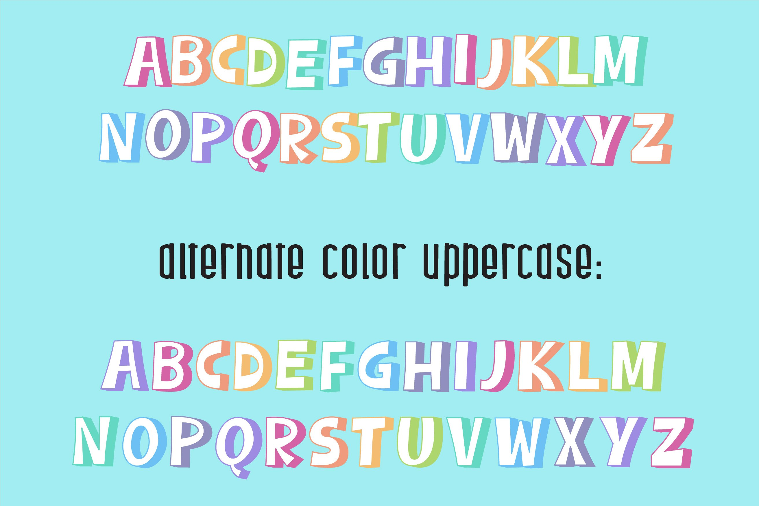 Sherbet Shadow SVG Font Duo example image 4