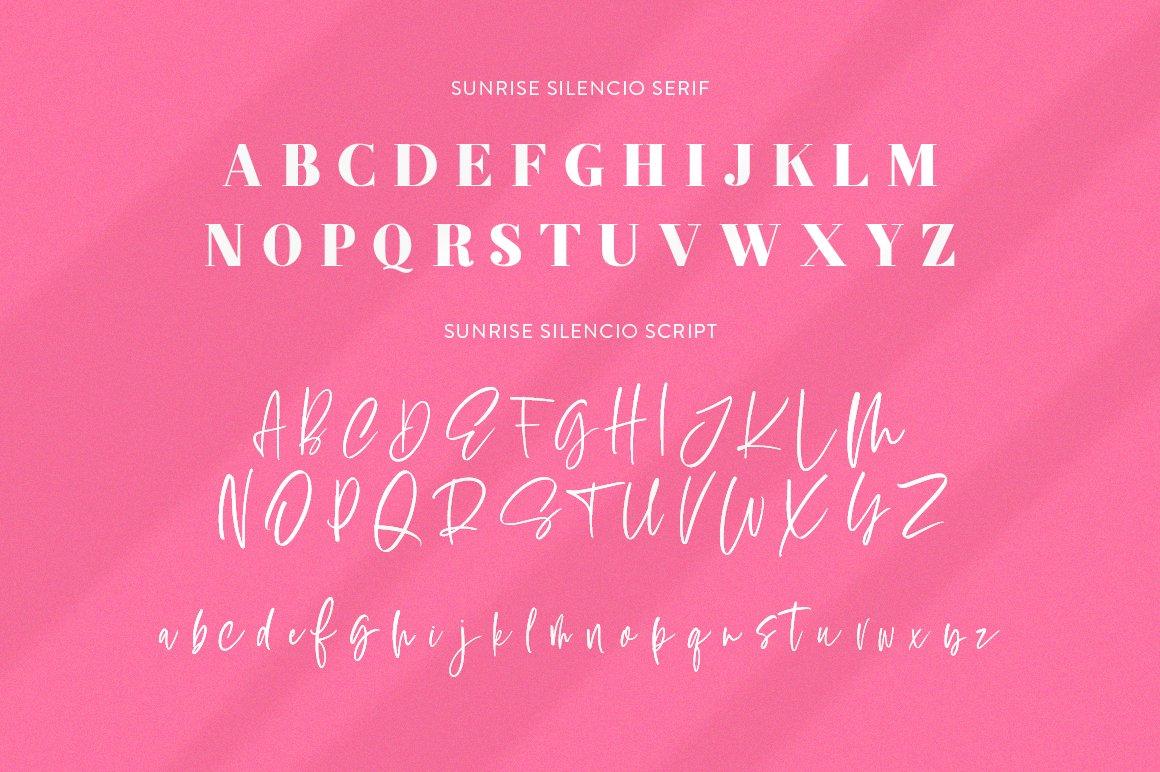 Sunrise Silencio Font Duo example image 8