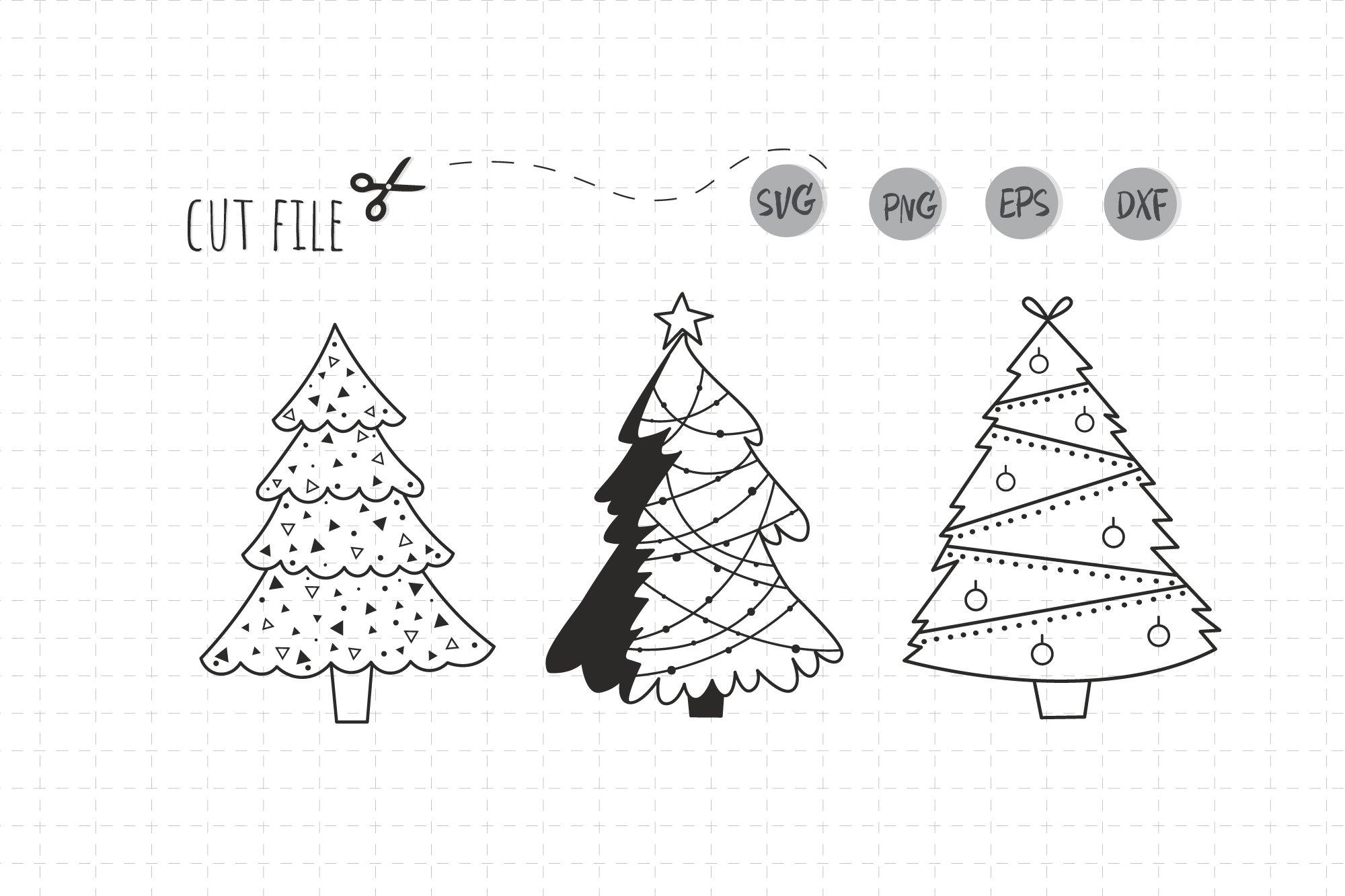 Christmas Tree Svg File Simple Modern Christmas Tree 1038001 Cut Files Design Bundles