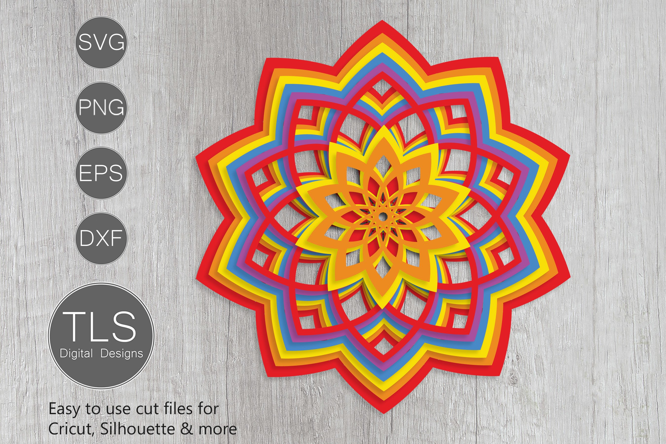 Download Free Layered Mandala Svg For Cricut