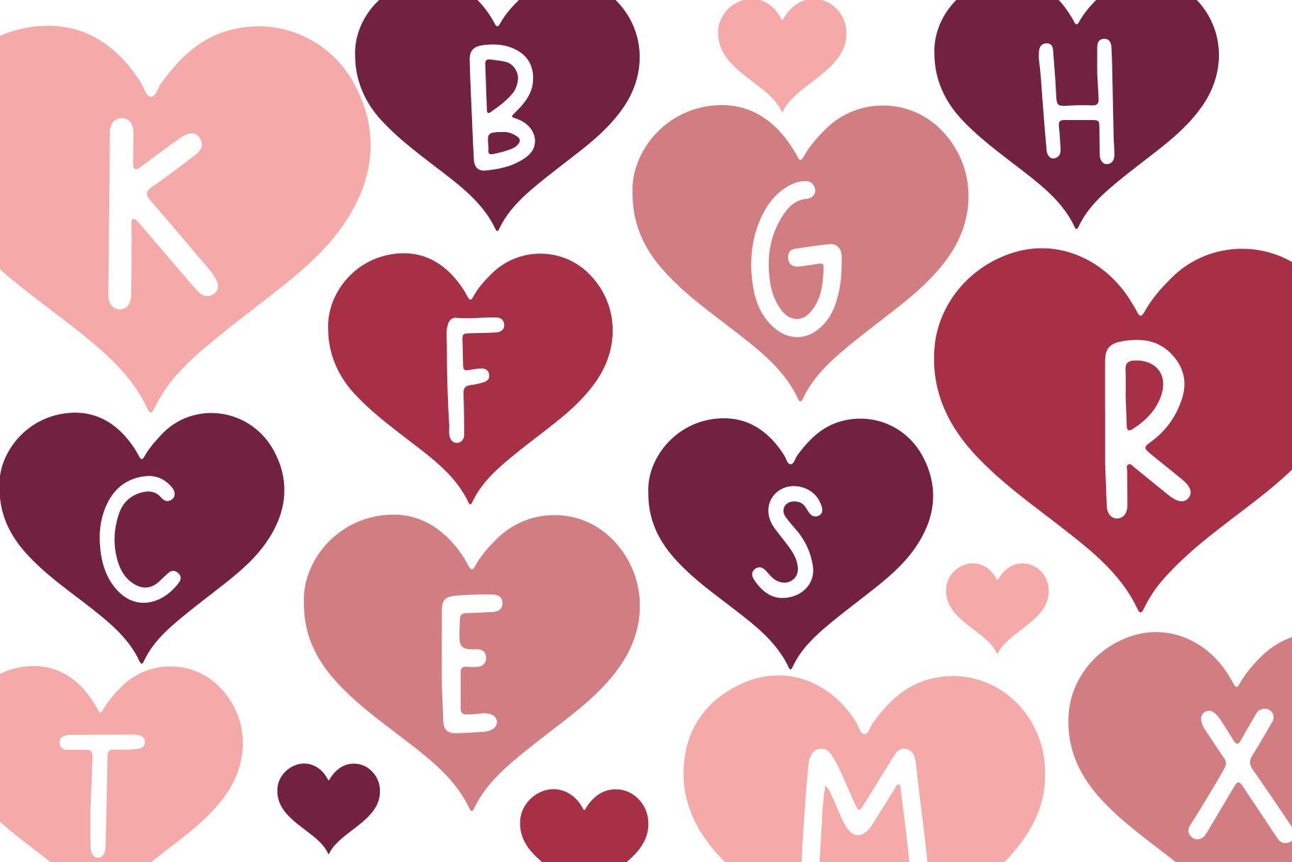 Date - A Fun Valentine's Day Font example image 4